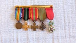 Barrette De Médailles Militaires En Réduction - Army & War