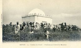 Maroc - Militaria - Campagne Du Maroc 1907-08 - Settat Combat Du 8 Avril - Ambulance à L'abri D'un Marabout - Autres