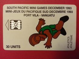 VANUATU 30u Athletics South Pacific Mini Games C3A000603 3000ex 10/93 Used Athletisme Sport - Vanuatu