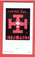 IMAGE RELIGIEUSE SCOUTE 1935 LUCERNA ARDENS A LYON - Scoutisme