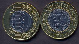 Comoros 250 Francs 2013 UNC < 1981 - 2011 > Bimetallic Rare - Comoros