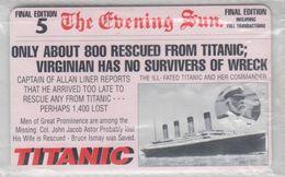 DENMARK 1998 SHIP TITANIC MINT PHONE CARD - Dinamarca