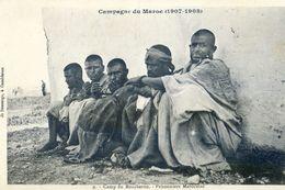 Maroc - Militaria - Campagne Du Maroc 1907-08 - Camp De Boucheron - Prisonniers Marocains - Autres
