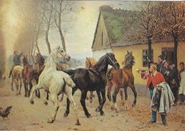 Painting Of Ancient Postman & Horses Outside An Old Inn. See Postmark. # 04976 - Post