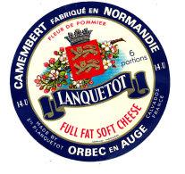 P 856 - ETIQUETTE DE FROMAGE -  CAMEMBERT  FLEUR DE POMMIER LANQUETOT 6 PORTIONS ORBEC EN AUGE  (CALVADOS) - Cheese