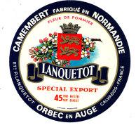 P 859 - ETIQUETTE DE FROMAGE -  CAMEMBERT  FLEUR DE POMMIER LANQUETOT ORBEC EN AUGE  (CALVADOS) - Cheese