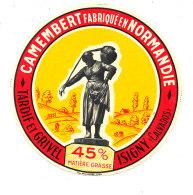 P 871 - ETIQUETTE DE FROMAGE - CAMEMBERT    TARDIF-GRIVEL  ISIGNY FAB EN NORMANDIE  (CALVADOS) - Cheese