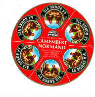 P 875 - ETIQUETTE DE FROMAGE - CAMEMBERT   NORMAND PREVAL 6 PORTIONS 14 H. - Cheese