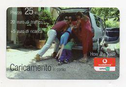 """Ricarica Telefonica """" VODAFONE/OMNITEL """" - Caricamento In Corso - Da 25 Euro - Usata - Validità 31.12.2008 -  (FDC7720) - Italy"""