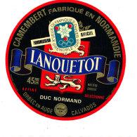 P 886 - ETIQUETTE DE FROMAGE -  CAMEMBERT  DUC NORMAND  JEUX OLYMPIQUES P. LANQUETOT ORBEC EN AUGE    (CALVADOS) - Cheese