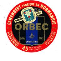 P 887 - ETIQUETTE DE FROMAGE -  CAMEMBERT   JEUX OLYMPIQUES P. LANQUETOT ORBEC EN AUGE    (CALVADOS) - Cheese