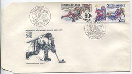 CSSR # 2435-6 FDC. Eishockey Welt- U. Europameisterschaften. Ersttagssonderstempel. - FDC