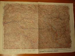 Lot De 3 Cartes Sur La Guerre 14/18 - Topographical Maps