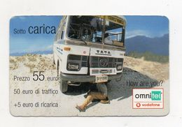 """Ricarica Telefonica """" VODAFONE/OMNITEL """" - Sotto Carica - Da 55 Euro - Usata - Validità 31.12.2006 -  (FDC7722) - Italy"""