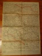 Lot De 4 Cartes Sur La Guerre 14/18 - Topographical Maps
