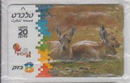 ISRAEL 2005 NUBIAN IBEX DEER USED PHONE CARD - Israel
