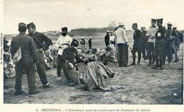 Maroc - Militaria - Campagne Du Maroc 1907-08 - Médouina - L'Intendance Paye Les Conducteurs De Chameaux Du Convoi - Autres