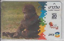 ISRAEL 2005 MONKEY GORILLA USED PHONE CARD - Israel
