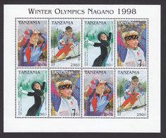 Tanzania, Scott #1605, Mint Never Hinged, Olympics, Issued 1997 - Tanzania (1964-...)