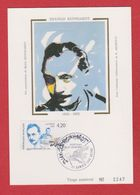 Carte Premier Jour  /  Django Reinhardt / Samois Sur Seine / 26-27 Juin 1993 / Tirage Numéroté : 2247 - Cartes-Maximum