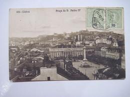 PORTUGAL Lisboa Praça De D. Pedro IV 1908 T.B.E. - Lisboa