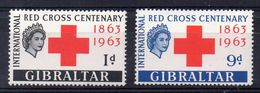 GIBRALTAR  Timbres Neufs ** De 1963  ( Ref 4920 B)  Croix Rouge - Gibraltar