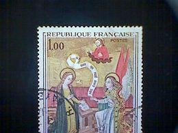 "France, Scott #1273, Used (o), 1970, ""The Annunciation"", Primitive Artist Of Savoy, 1fr - France"