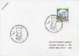 Italia 1989 Annullo Speciale Su Cartoncino Torano Nuovo Inaugurazione Monumento Ai Caduti In Guerra - Militaria