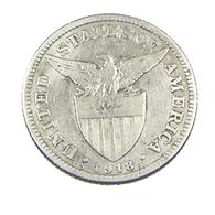 50 Centavos - Philipines - 1918 - Argent - TB - - Philippines