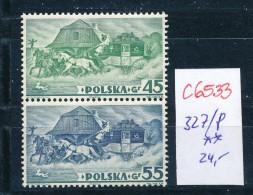 Polen Nr. 327/8  A **  (c6533 ) Siehe Scan - 1919-1939 Republic