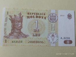 1 Leu 2010 - Moldavia