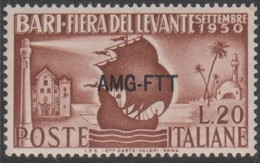 Trieste 1950 AMG FTT 20 Lire 1v. MNH - Trieste