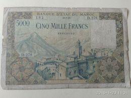 5000 Francs 1953 - Maroc