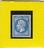 N° 14 A   PC  2650   RENNES   /  ILLE ET VILAINE   -  REF LOC37 + VARIETE - 1853-1860 Napoléon III