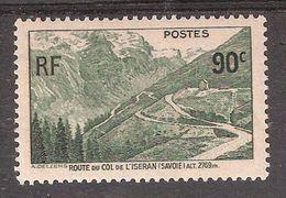France 1937, Col De L'Iseran 90 C Vert Foncé Neuf ** / MNH, TB - France