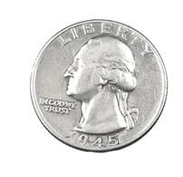 1/4 Dollar - Etats Unis - Washington - 1945  - Argent - TB - - Émissions Fédérales