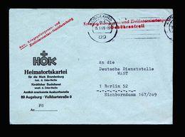 A5095) Bund POW Kriegsgefangenenbrief Augsburg 15.1.69 WAST Berlin - Briefe U. Dokumente