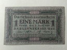 1 Mark 1918 Occupazione Tedesca - Lituanie