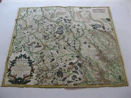 Carte Géographique Ancienne évesché De Metz Duché De Lorraine Sarrebourg Phalsbourg Sarrebruck Forbach Morhange  1656 - Geographical Maps