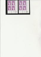 2 COINS DATES SABINE N° 1969  - - 1-3-79...19-2-80  TB - Esquina Con Fecha