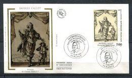 1992 FRANCE FDC 1ER JOUR SUR SOIE TABLEAU GRAVURE DE JACQUES CALLOT - Engravings