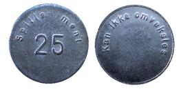 02249 GETTONE JETON TOKEN NORGE AMUSEMENT GAMING PLAY MACHINE SPILLEMONT 25 - Tokens & Medals