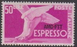 Trieste 1952 AMG FTT Espresso 50 Lire 1v. MNH - Poste Aérienne