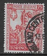 Italia Italy 1928 Regno Emanuele Filiberto C.75 Sa N.234 US - 1900-44 Vittorio Emanuele III