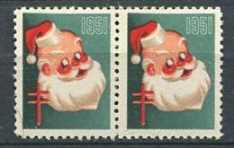 VIGNETTE 1951 - Tuberculose Croix Rouge Pere Noel - Neuf ** (MNH) Gommé Sans Charniere - Cinderellas