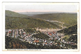 Mauch Chunk PA From Mt Pisgah Birds Eye View Vintage Postcard - United States