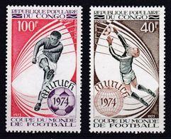 Congo - 1973 -PA N°179 /180 Coupe Du Monde De Football N* MH - Congo - Brazzaville