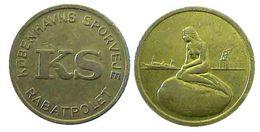 04338 GETTONE JETON TOKEN DENMARK TRASPORTI TRANSPORT COPENAGHEN MERMAID - Tokens & Medals