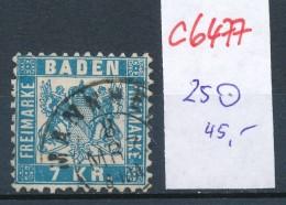 Baden  Nr. 25.    O   (c6477 ) -siehe Bild - Baden