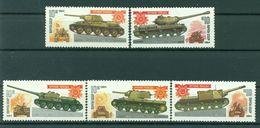 URSS 1984 - Y & T N. 5066/70  - Blindés Soviétiques - 1923-1991 USSR